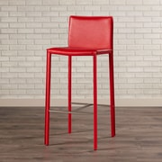 Brayden Studio Reser 30'' Bar Stool (Set of 2); Red/Chrome