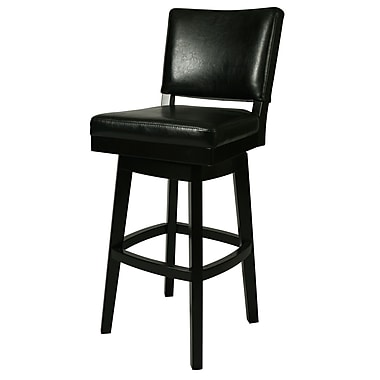 Brayden Studio Weinman 26.5'' Swivel Bar Stool; Black