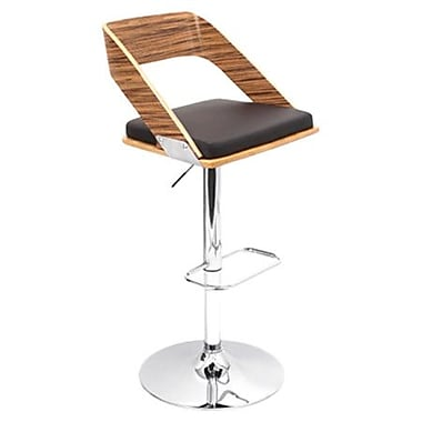 Brayden Studio Biles Swivel Bar Stool; Zebra / Brown