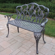 Brayden Studio Farrior Aluminum Garden Bench; Antique Pewter