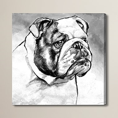 Brayden Studio English Bulldog Painting Print on Wrapped Canvas; 50'' H x 50'' W x 2'' D