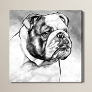 Brayden Studio English Bulldog Painting Print on Wrapped Canvas; 43'' H x 43'' W x 1.5'' D