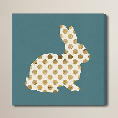 Brayden Studio 'Marshmallow Bunny' Graphic Art on Wrapped Canvas; 50'' H x 50'' W x 2'' D