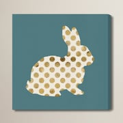 Brayden Studio 'Marshmallow Bunny' Graphic Art on Wrapped Canvas; 20'' H x 20'' W x 1.5'' D
