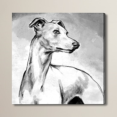 Brayden Studio Galgo Painting Print on Wrapped Canvas; 50'' H x 50'' W x 2'' D