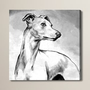 Brayden Studio Galgo Painting Print on Wrapped Canvas; 12'' H x 12'' W x 1.5'' D