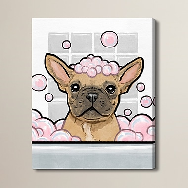 Brayden Studio 'Bubbly Personality' Graphic Art on Wrapped Canvas; 30'' H x 24'' W x 1.5'' D