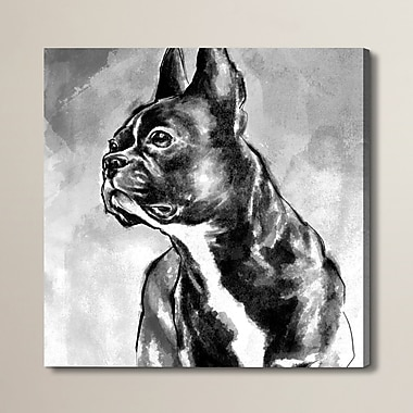 Brayden Studio French Bulldog Painting Print on Wrapped Canvas; 20'' H x 20'' W x 1.5'' D