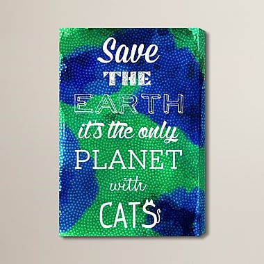 Brayden Studio 'Cat Planet' Textual Art on Wrapped Canvas; 60'' H x 40'' W x 2'' D