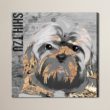 Brayden Studio 'Love My Shih Tzu' Graphic Art on Wrapped Canvas; 36'' H x 36'' W x 1.5'' D