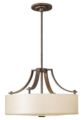 Brayden Studio Brundage 3-Light Pendant; Corinthian Bronze