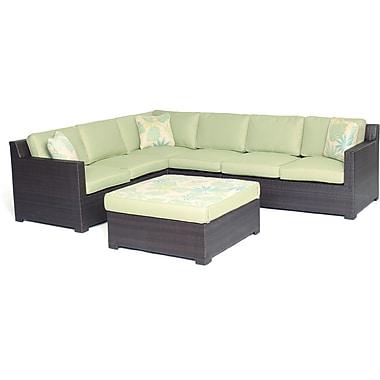 Brayden Studio Abraham 5 Piece Lounge Seating Group w/ Cushions; Avocado Green