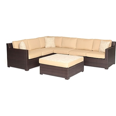 Brayden Studio Abraham 5 Piece Lounge Seating Group w/ Cushions; Silver Lining
