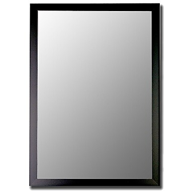Brayden Studio Humbert Matte Black Modern Wall Mirror; 48'' H x 36'' W