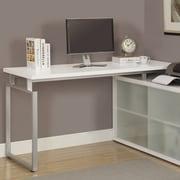 Brayden Studio Cramer L-Shaped Writing Desk; White