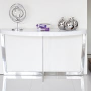 Brayden Studio Coyer Console Table; White