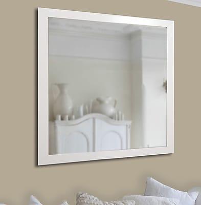 Brayden Studio Polished White Wall Mirror; 31''