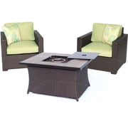 Brayden Studio Abraham 3 Piece Deep Seating Group w/ Cushion; Avocado Green