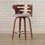 Brayden Studio Lucey 24'' Swivel Bar Stool