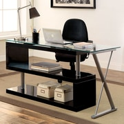 Brayden Studio Folden Writing Desk; Black