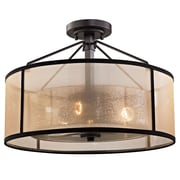 Brayden Studio Dailey 3-Light Semi Flush Mount; 100W Incandescent