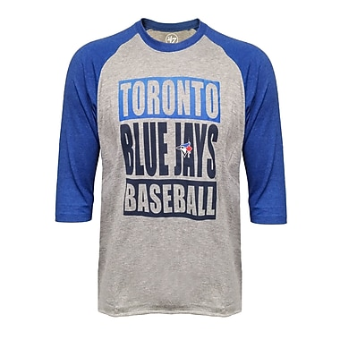 Toronto Blue Jays Club 3/4 Raglan Tee, Medium