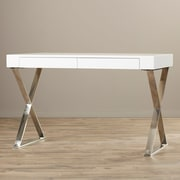 Everly Quinn Athina Writing Desk; White