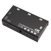 SAE – Répartiteur HDMI 4K @ 60Hz, 4 ports,  avec EDID & HDCP (HDMI-SP104)