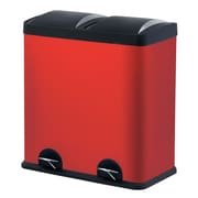 Step N' Sort Trash and Recycling Bin, Red, 60L