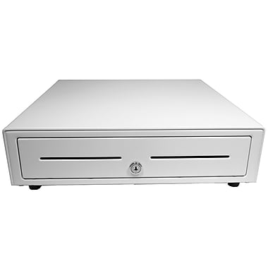 APG Vasario 16x16 Cash Drawer, 24V Interface, All White, 5 Bill 5 Coin till, Cable Required