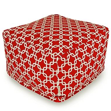 Brayden Studio Danko Large Ottoman; Red