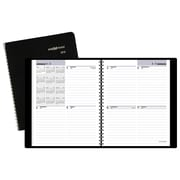 "2018 AT-A-GLANCE® DayMinder® Block-Style Weekly Planner,  6 7/8""x8 3/4"", Black"