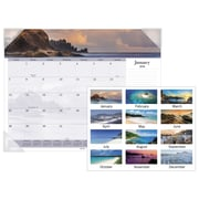"2018 AT-A-GLANCE® Images of the Sea Panoramic Desk Pad, 12 Months, January Start, 22"" x 17"" (DMD141-32-18)"