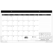 "2018 AT-A-GLANCE® Compact Monthly Desk Pad Calendar, Jan 2018 - Dec 2018, 17-3/4"" x 10-7/8"", Black and White (SK14-00-18)"