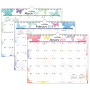 "2018 AT-A-GLANCE® Watercolors Wall Calendar, January 2018-December 2018, 15""x12"" (PM91-707-18)"