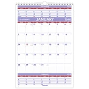 "2018 AT-A-GLANCE® 3-Month Wall Calendar, January 2018-December 2018, 15-1/2""x22-3/4"", Wirebound (PM6-28-18)"