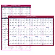 "2018 AT-A-GLANCE® Wall Calendar, Reversible Vertical / Horizontal, Erasable, January 2018-December 2018, 36""x24"" (PM26-28-18)"