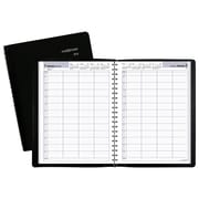 "2018 AT-A-GLANCE® DayMinder® Daily 4-Person Group Appointment Book, 7 7/8""x11"", Black"