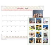 "2018 AT-A-GLANCE® Kittens Monthly Desk Pad, 12 Months, January Start, 22""x17"" (DMD167-32-18)"