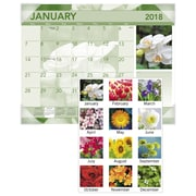 "2018 AT-A-GLANCE® Antique Floral Monthly Desk Pad, 12 Months, January Start, 22""x17"" (DMD135-32-18)"