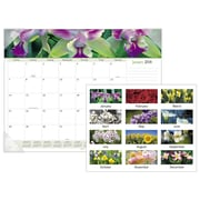 "2018 AT-A-GLANCE® Floral Panoramic Monthly Desk Pad, 12 Months, January Start, 22""x17"" (89805-18)"