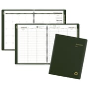 "2018 AT-A-GLANCE® Recycled Weekly/Monthly Appointment Book/Planner, 8-1/4"" x 10-7/8"", Green (70-950G-60-18)"