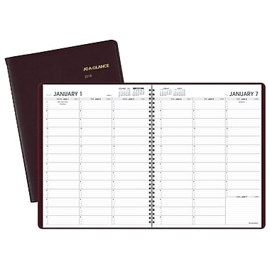 2018 AT A GLANCE® Weekly Appointment Book/Planner, 13 Months,