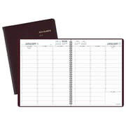 "2018 AT-A-GLANCE® Weekly Appointment Book/Planner, 13 Months, 8 1/4""x10 7/8"", Winestone"
