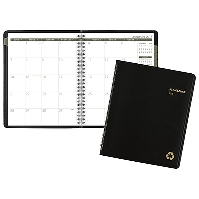 2018 AT-A-GLANCE® Recycled Monthly Planner, 6-7/8