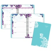 "2018 AT-A-GLANCE® Wild Washes Weekly/Monthly Appointment Book/Planner, 5-1/2""x8-1/2"", Light Blue"