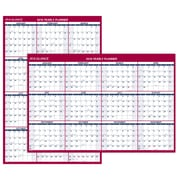"2018 AT-A-GLANCE® Wall Calendar, Vertical / Horizontal Erasable, Reversible, Jan 2018 - Dec 2018, 48"" x 32"" (PM326-28-18)"