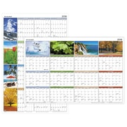 """2018 AT-A-GLANCE® Seasons in Bloom Horizontal/Vertical Erasable Yearly Wall Calendar, 36""""x24"""" (PA133-18)"""