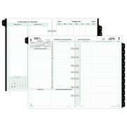 "2018 Day-Timer® Reference Two Page Per Day Refill, Loose-Leaf, Desk Size, 5 1/2""x8 1/2"""
