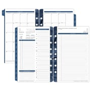 "2018 Franklin Covey® Monticello Two Page Per Day Planner Refill, Loose-Leaf, 5 1/2""x8 1/2"", White/Blue (36229-18)"